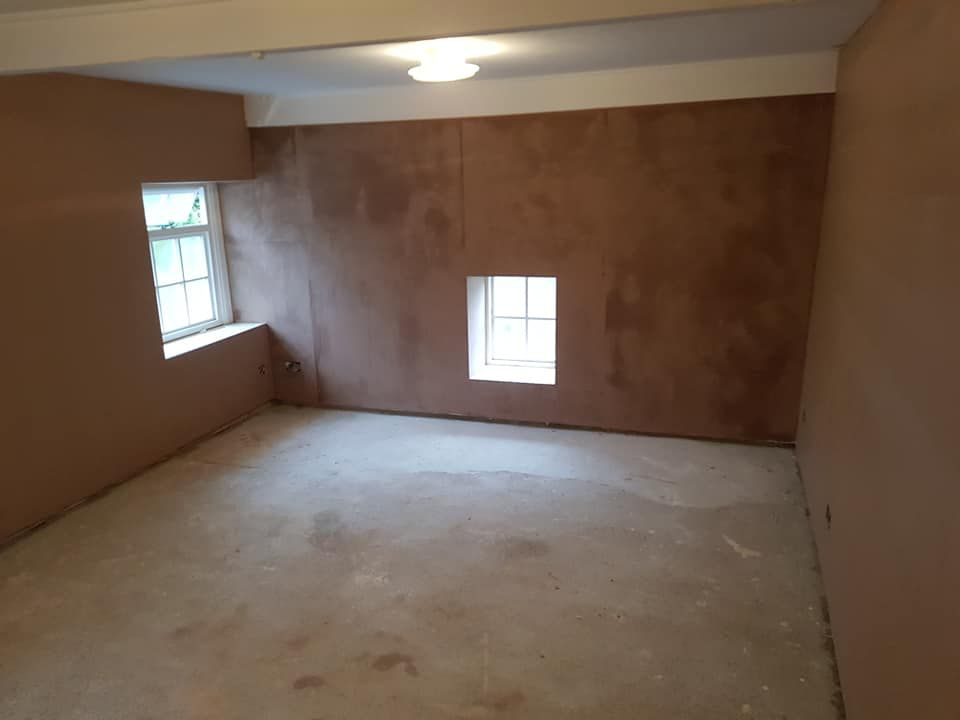 damp proofing job all rendered and plastered up, finished product tanking damp proofing